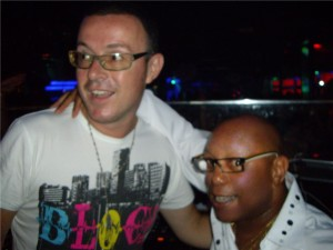 JUDGE JULES AND RONNIE CANADA IN TRAMPS TENERIFE