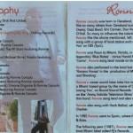 Ronnie Canada CV For Motown Tour